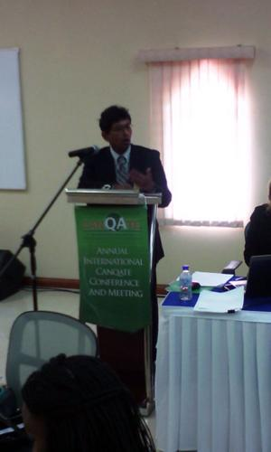 Senior  Manager QA - Mr. Kumar Bobby Sookram giving the vote of thanks at the close of Opening ceremony
